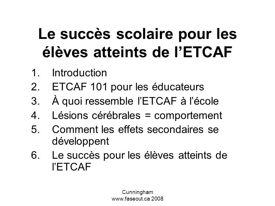 Le succès scolaire pour les élèves atteints de l'ETCAF