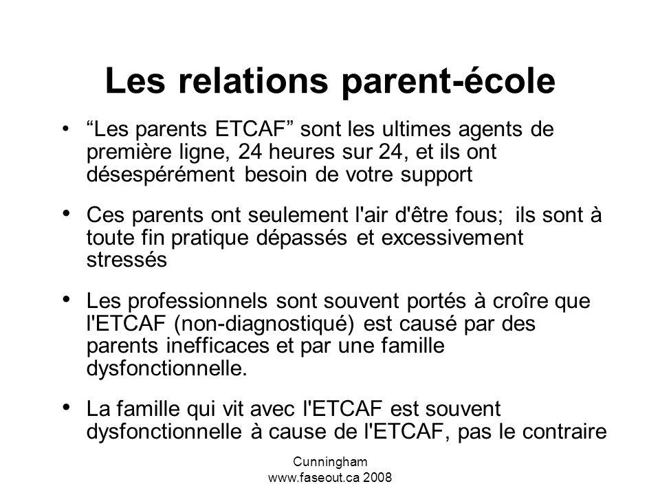 Les relations parent-école