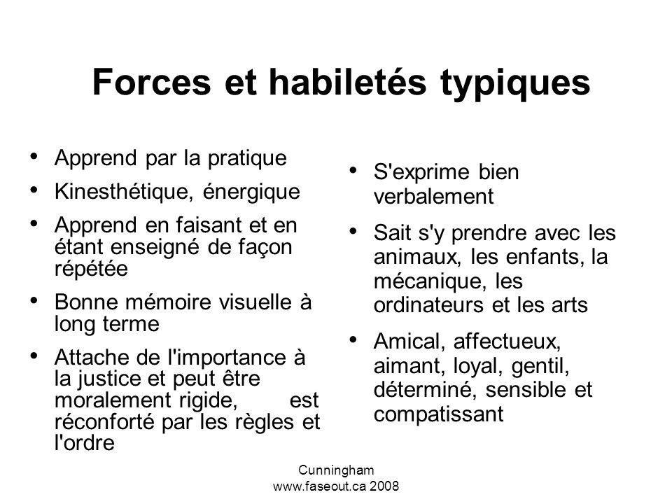 Forces et habiletés typiques