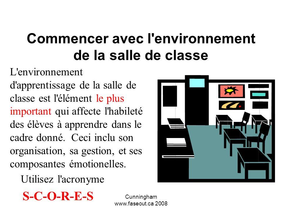Commencer avec l environnement de la salle de classe