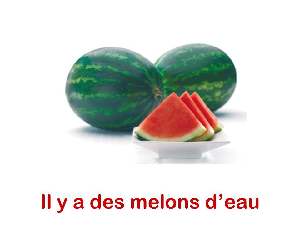 Il y a des melons d'eau