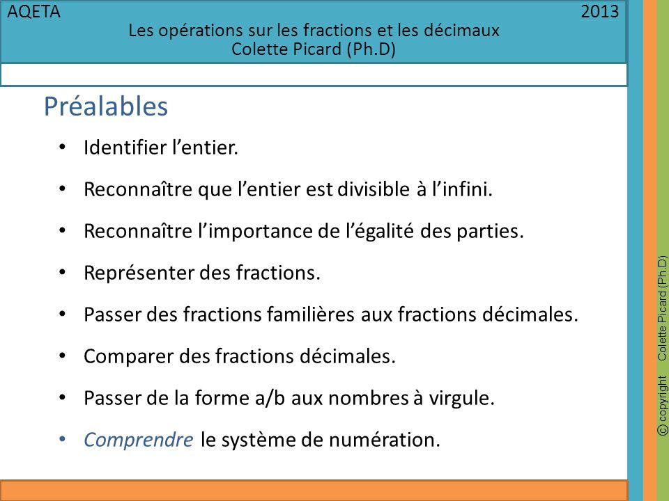 Les opérations sur les fractions et les décimaux