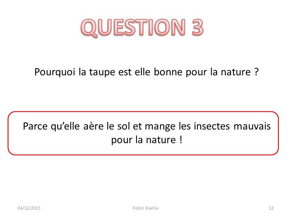 Pourquoi la taupe est elle bonne pour la nature