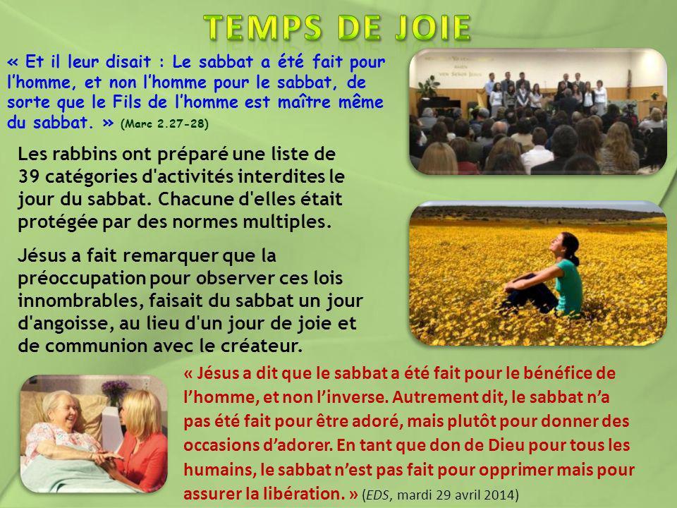 TEMPS DE JOIE