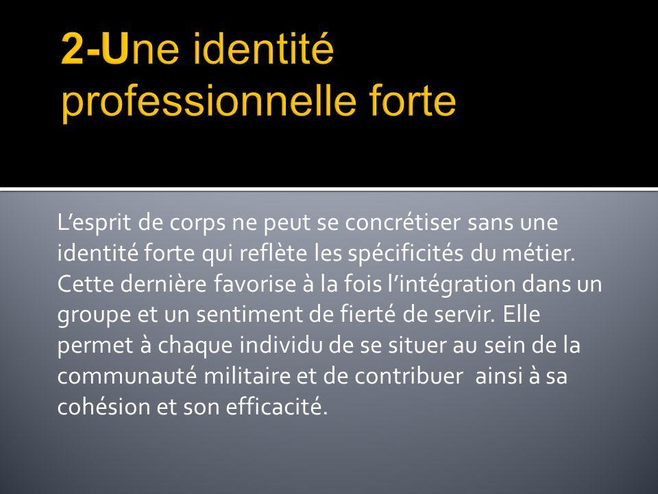 2-Une identité professionnelle forte