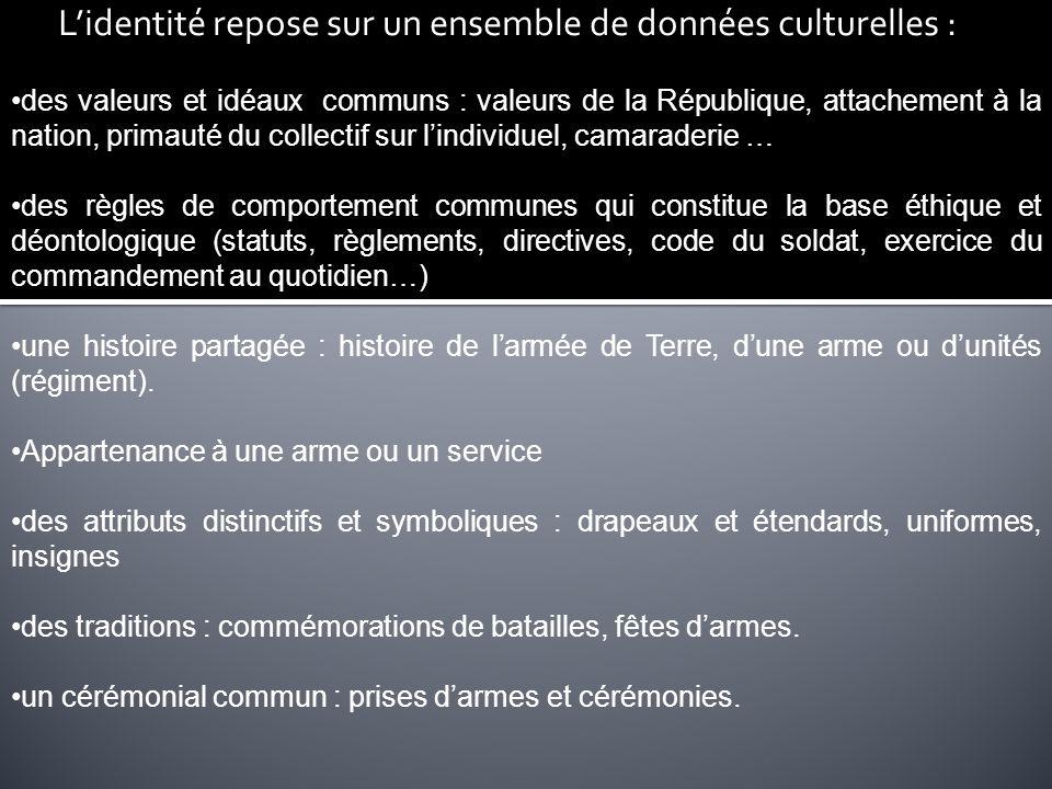 L'identité repose sur un ensemble de données culturelles :