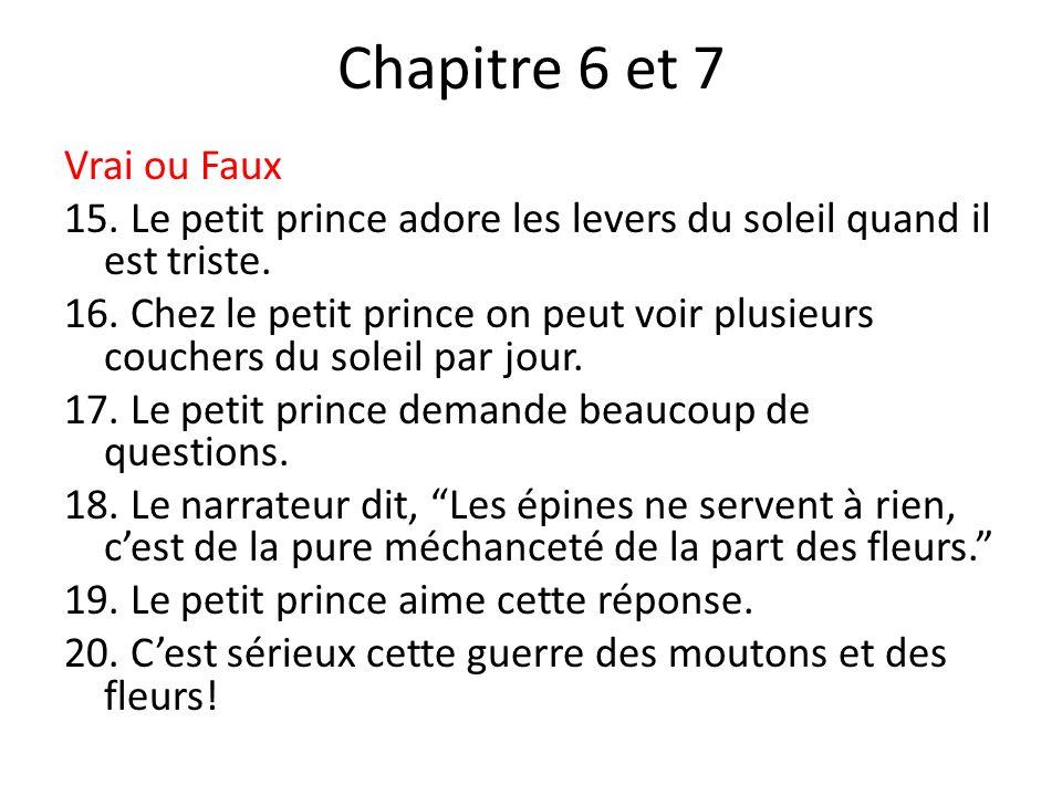 Chapitre 6 et 7