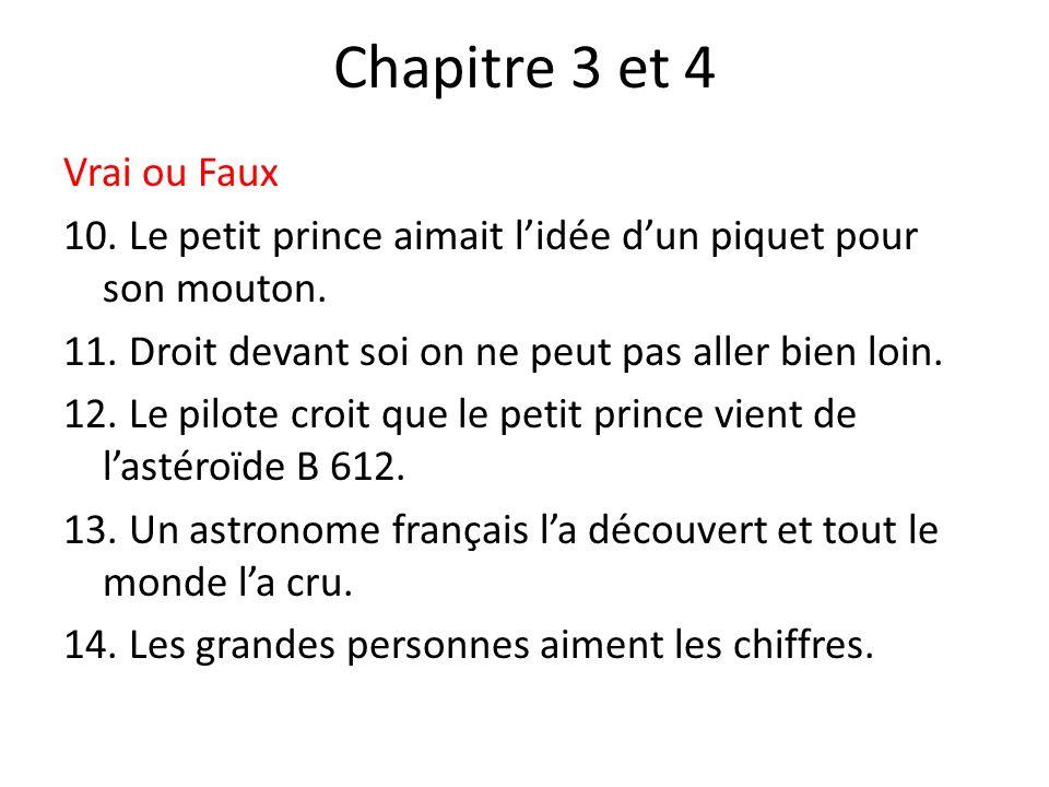 Chapitre 3 et 4