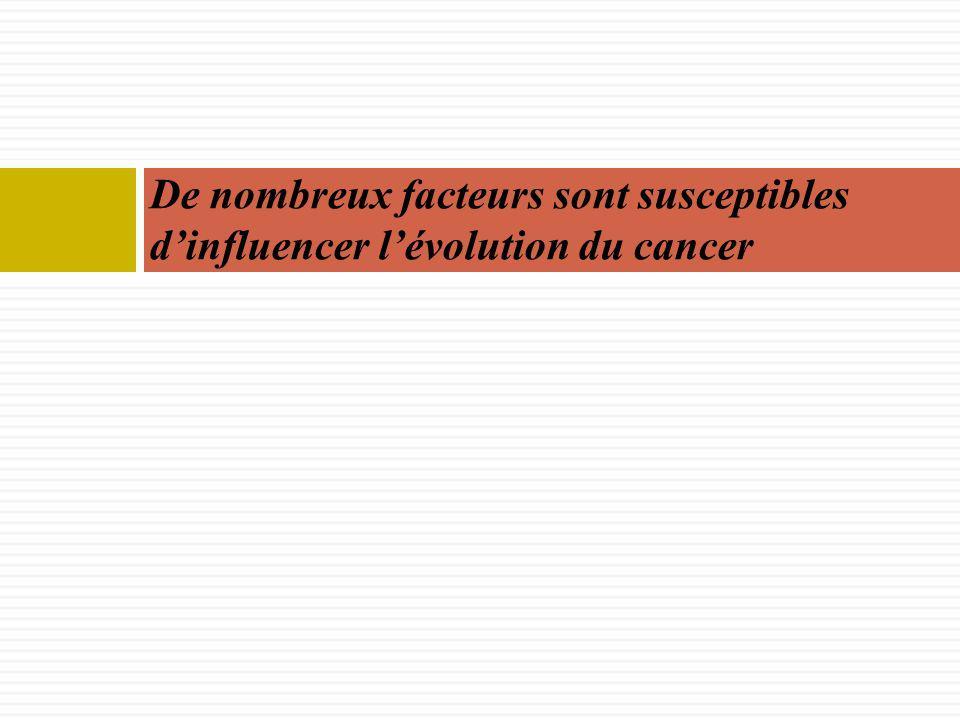 De nombreux facteurs sont susceptibles d'influencer l'évolution du cancer