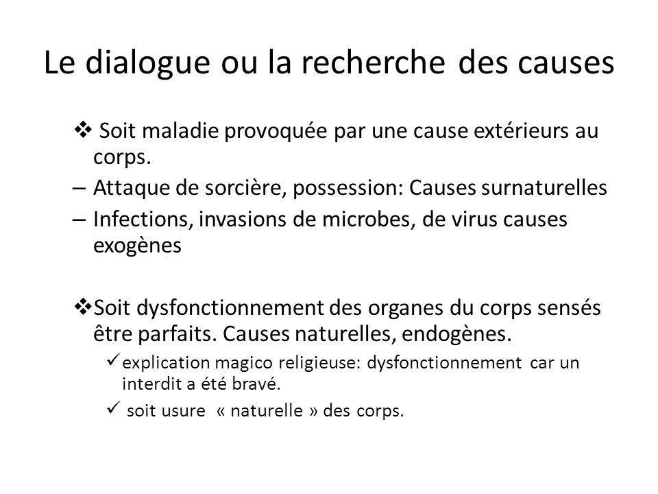 Le dialogue ou la recherche des causes