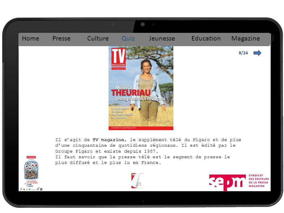 Home Presse Culture Quiz Jeunesse Education Magazine