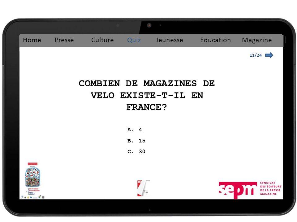 COMBIEN DE MAGAZINES DE VELO EXISTE-T-IL EN FRANCE