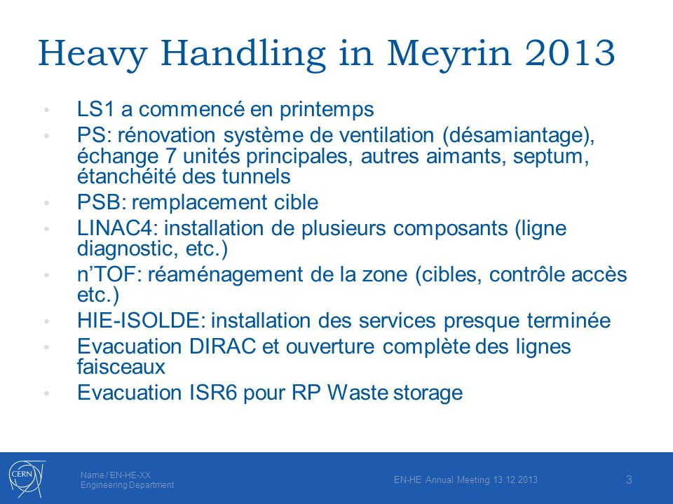 Heavy Handling in Meyrin 2013