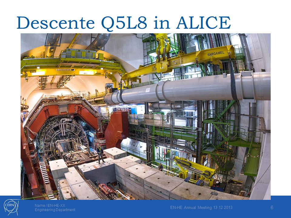 Descente Q5L8 in ALICE EN-HE Annual Meeting 13.12.2013