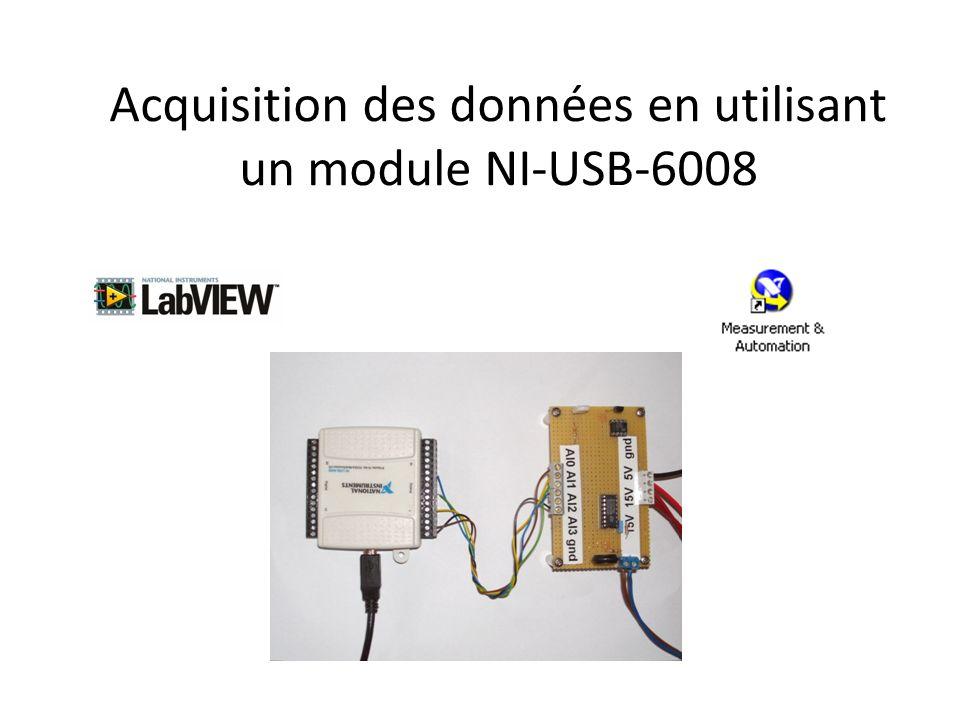 Acquisition des données en utilisant un module NI-USB-6008