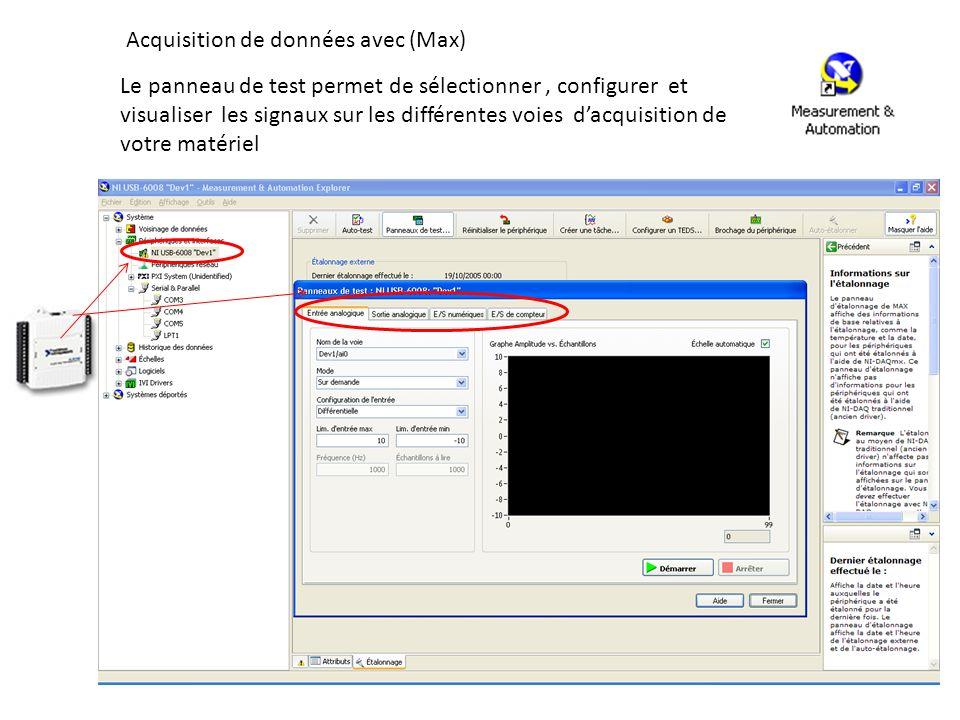 Acquisition de données avec (Max)