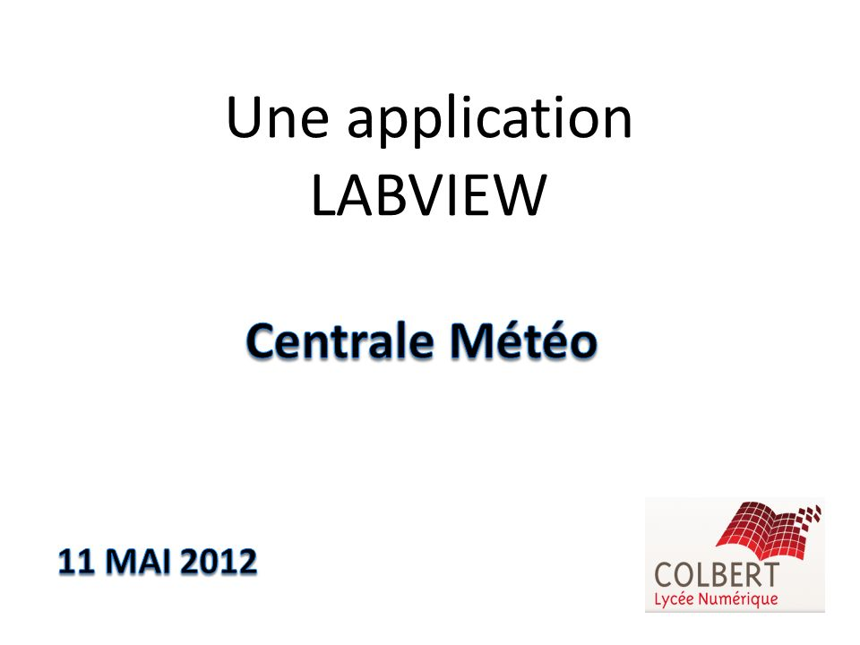Une application LABVIEW
