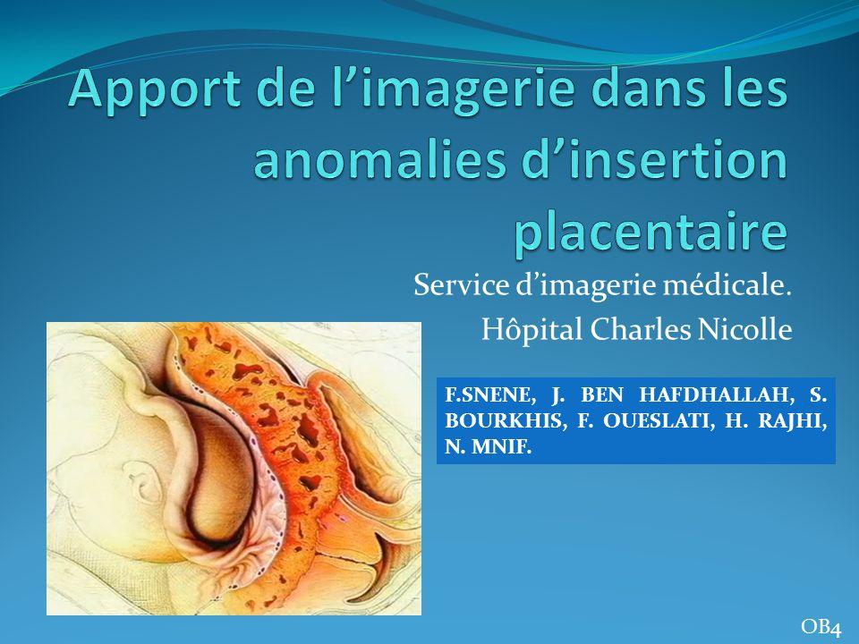 Apport de l'imagerie dans les anomalies d'insertion placentaire