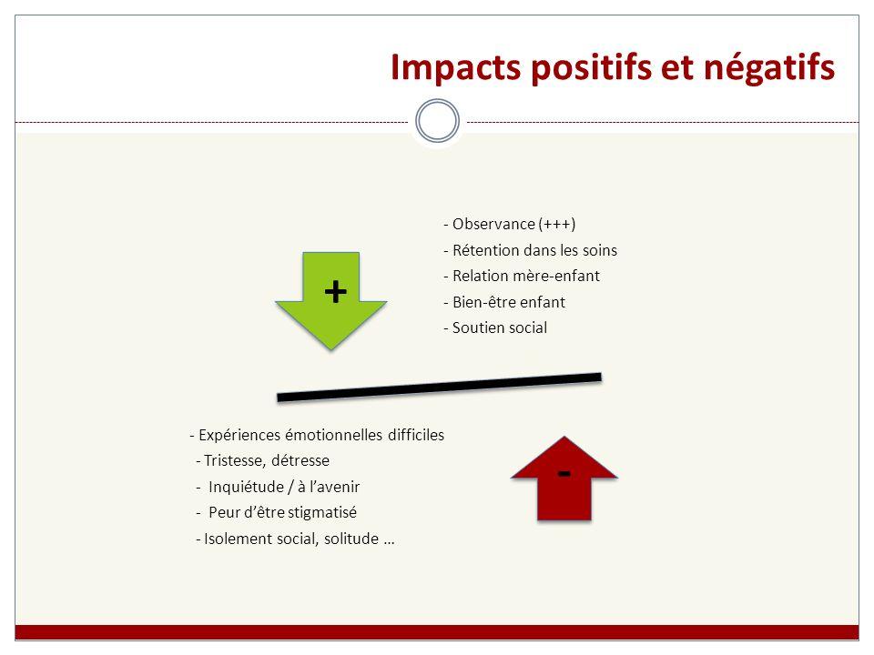 Impacts positifs et négatifs