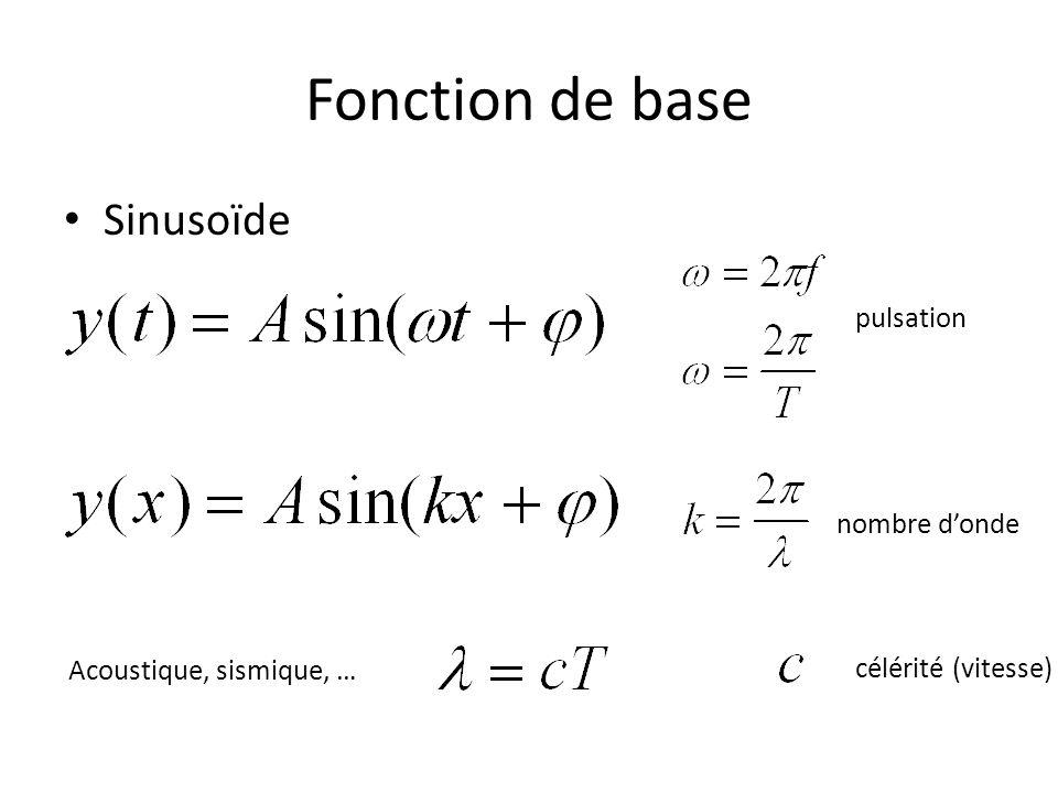 Fonction de base Sinusoïde pulsation nombre d'onde