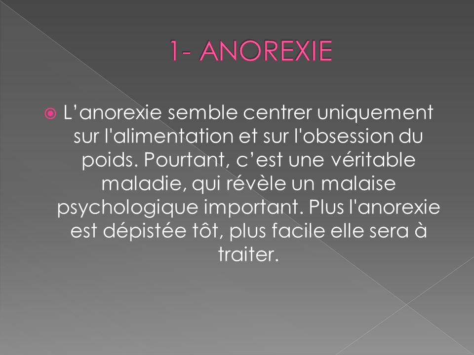 1- ANOREXIE
