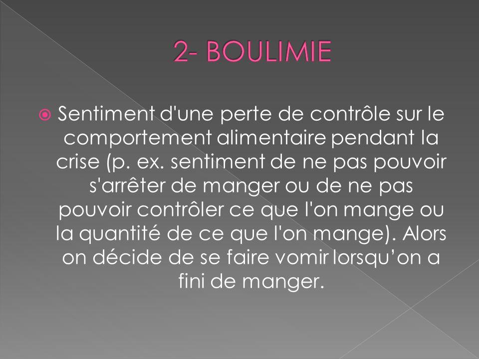 2- BOULIMIE