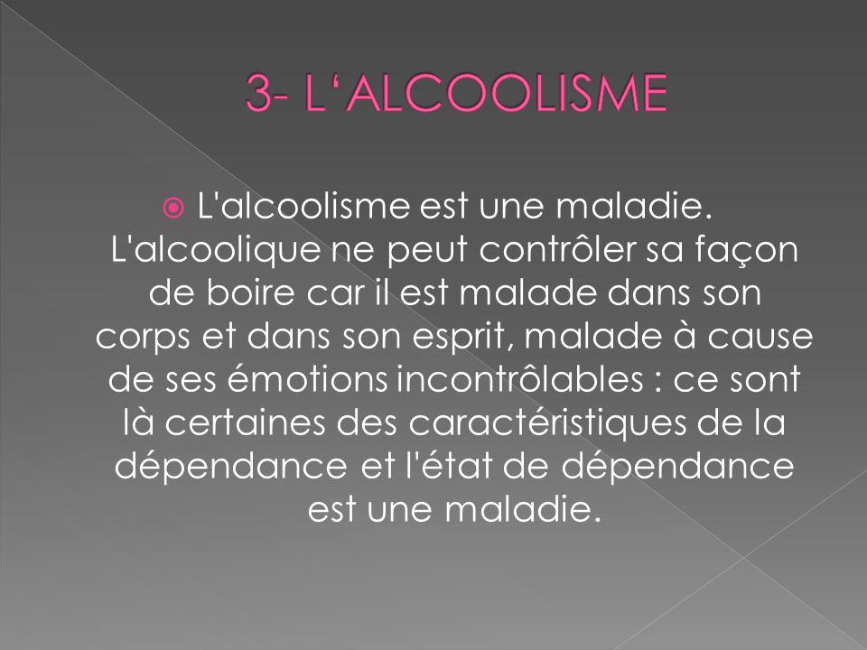 3- L'ALCOOLISME