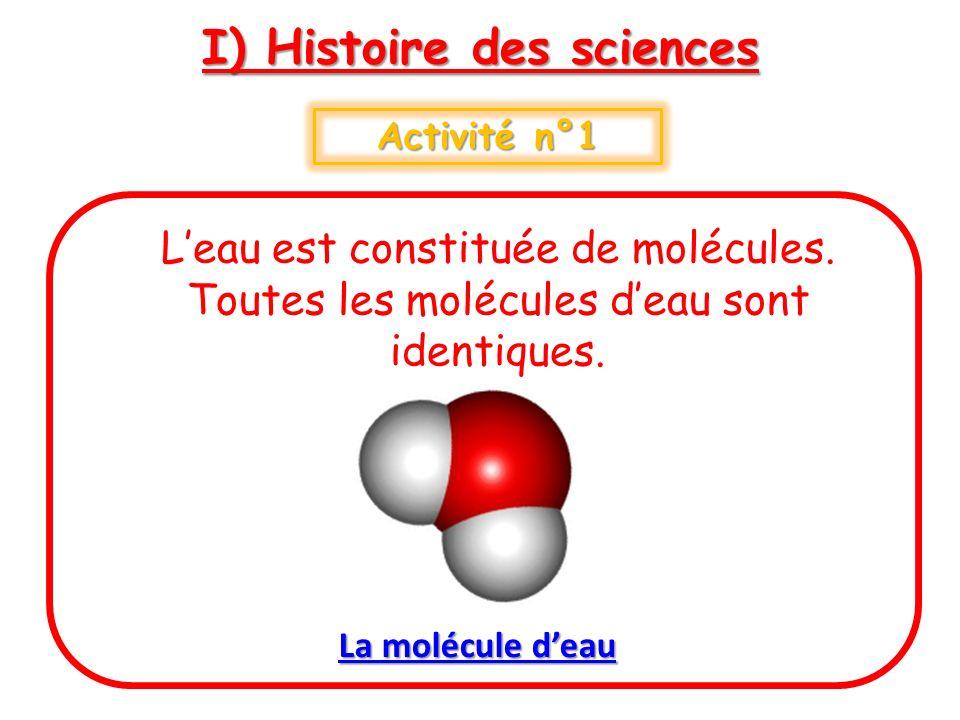 I) Histoire des sciences