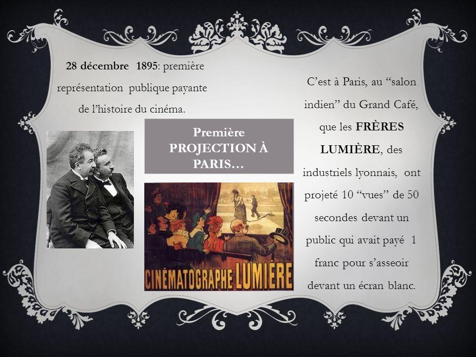 Première projection à Paris…