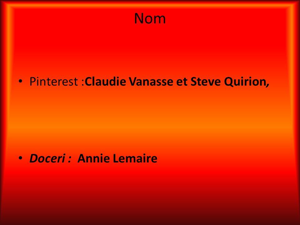 Nom Pinterest :Claudie Vanasse et Steve Quirion,