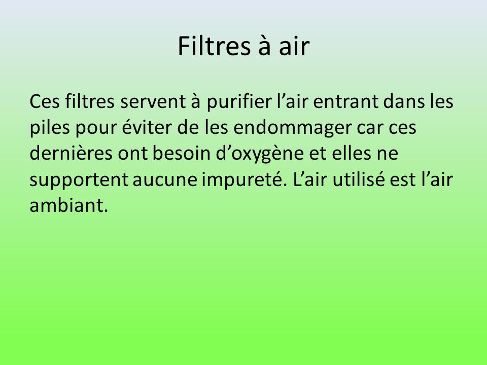 Filtres à air