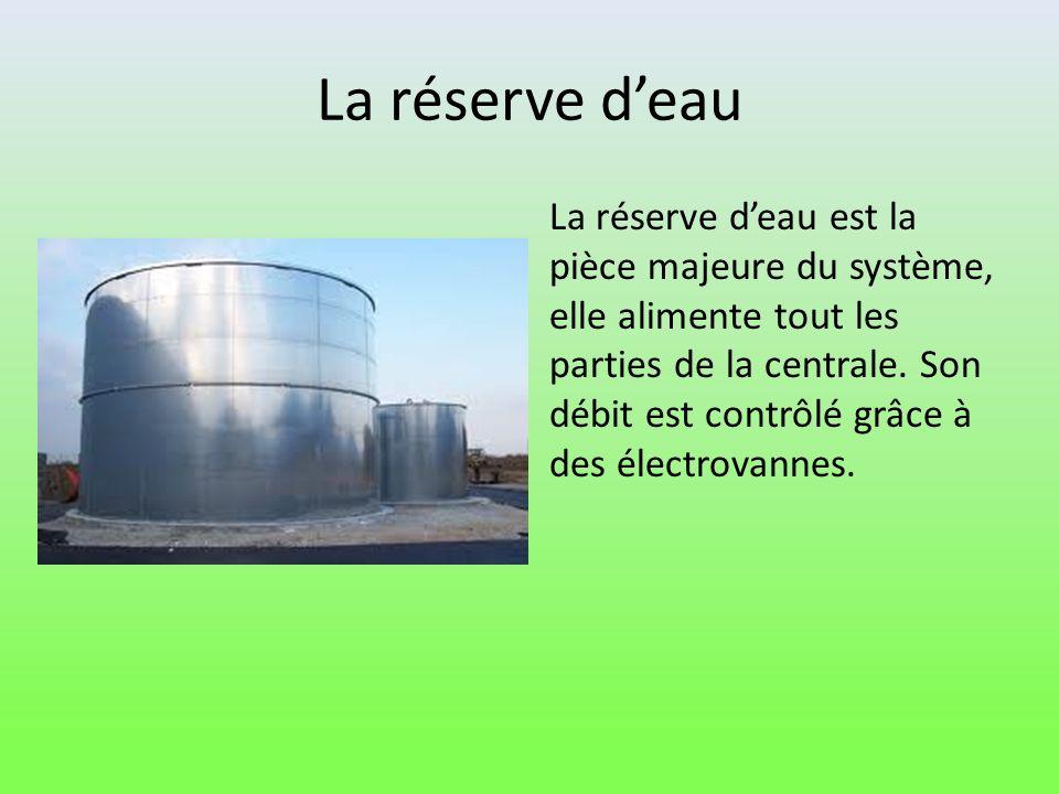 La réserve d'eau