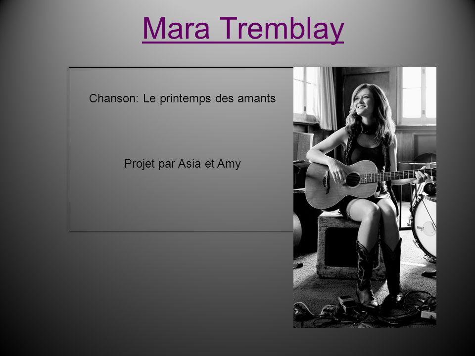 Chanson: Le printemps des amants Projet par Asia et Amy