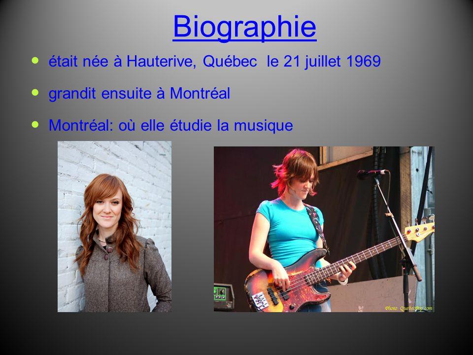 Biographie était née à Hauterive, Québec le 21 juillet 1969
