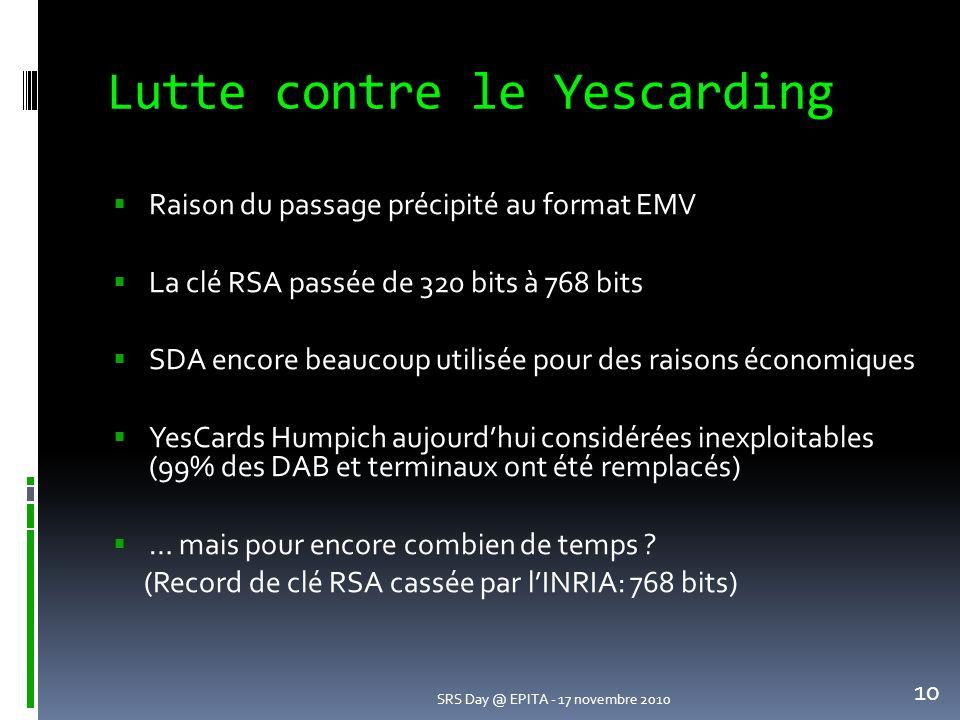 Lutte contre le Yescarding