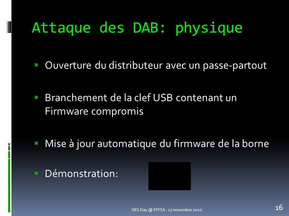Attaque des DAB: physique
