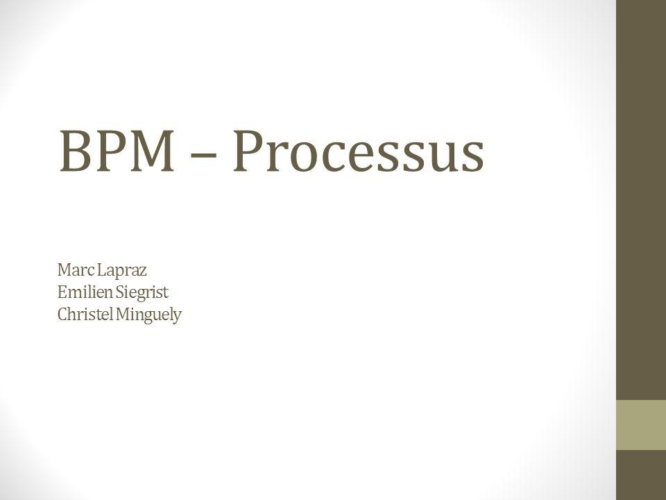 BPM – Processus Marc Lapraz Emilien Siegrist Christel Minguely