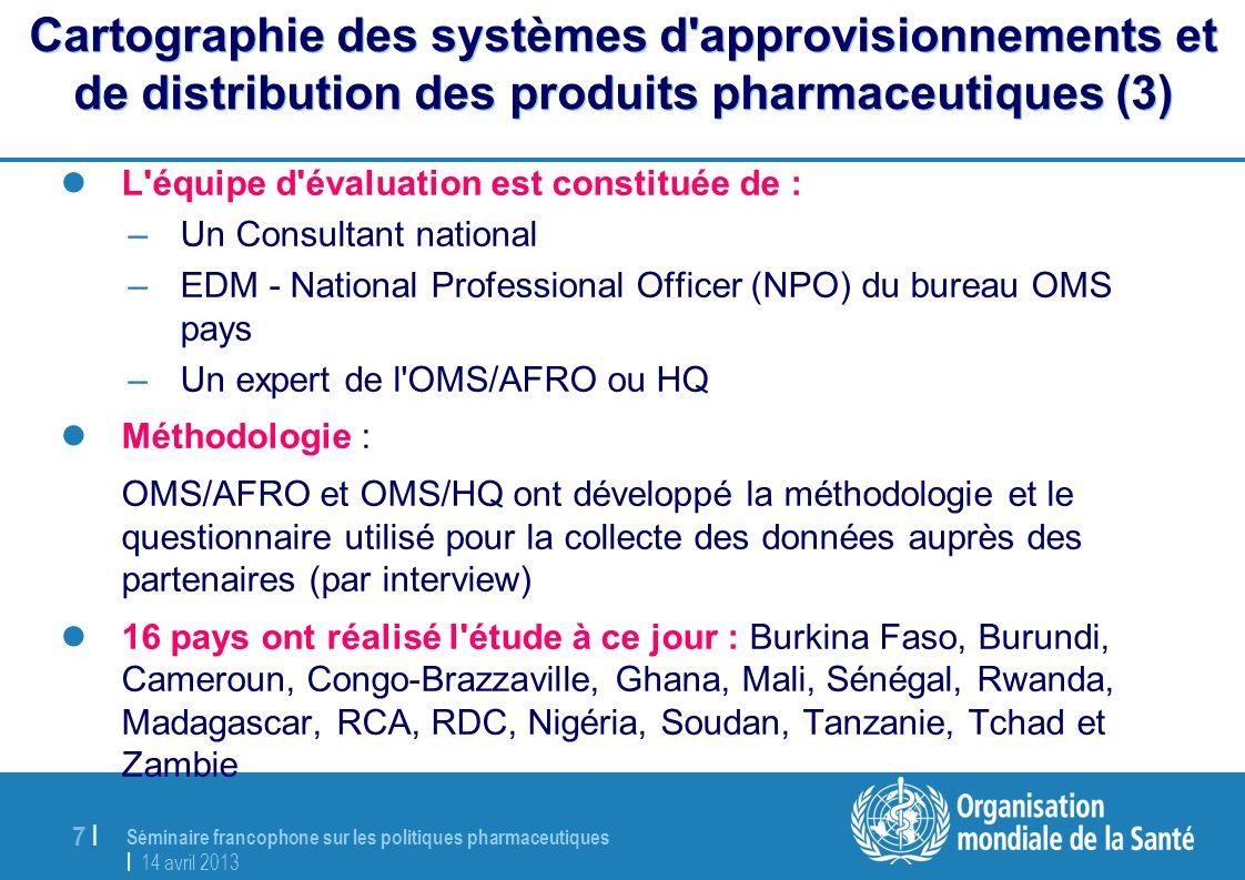 Cartographie des systèmes d approvisionnements et de distribution des produits pharmaceutiques (3)