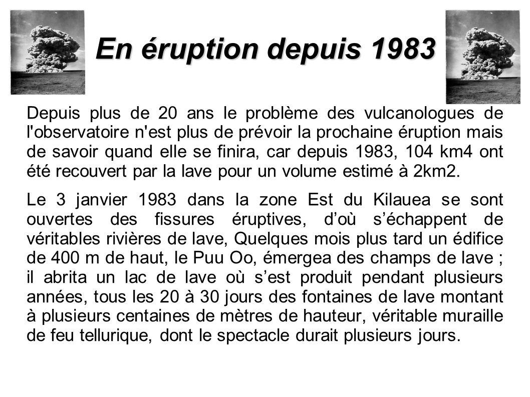 En éruption depuis 1983