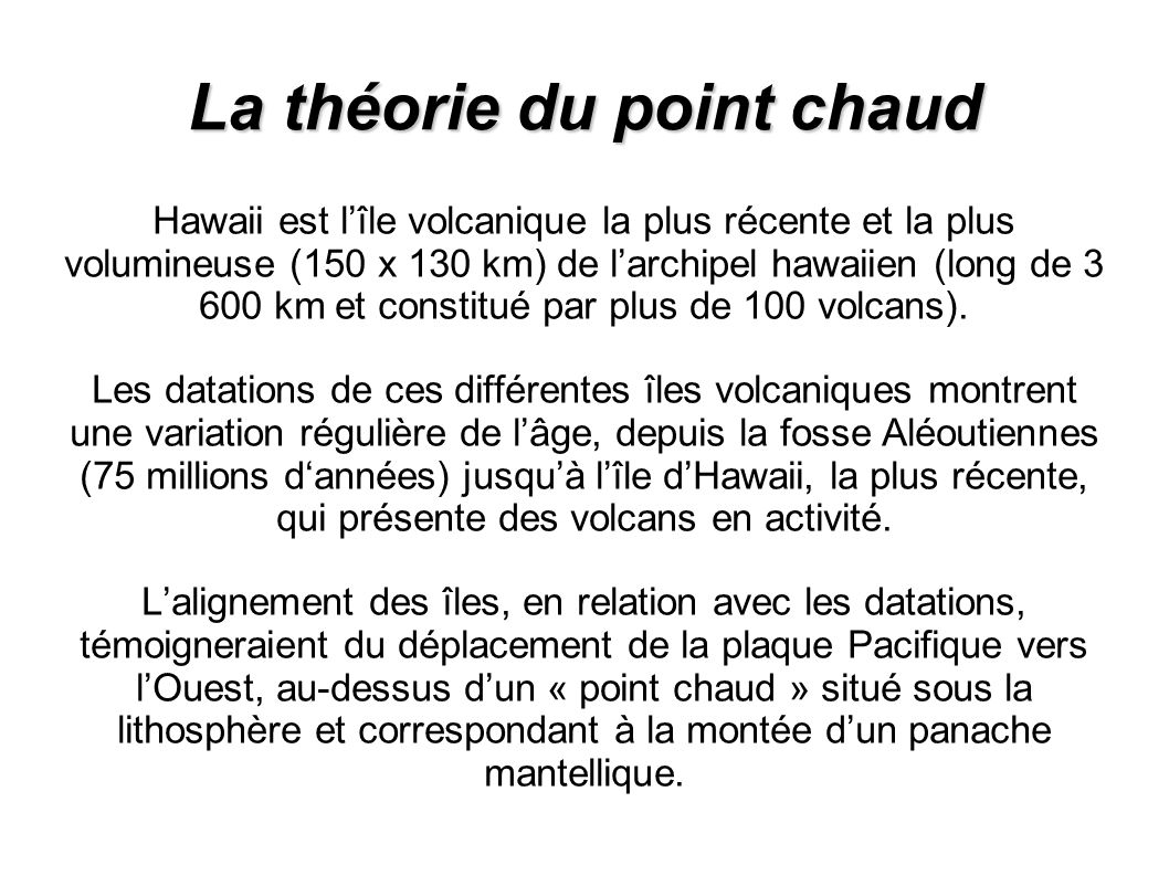 La théorie du point chaud