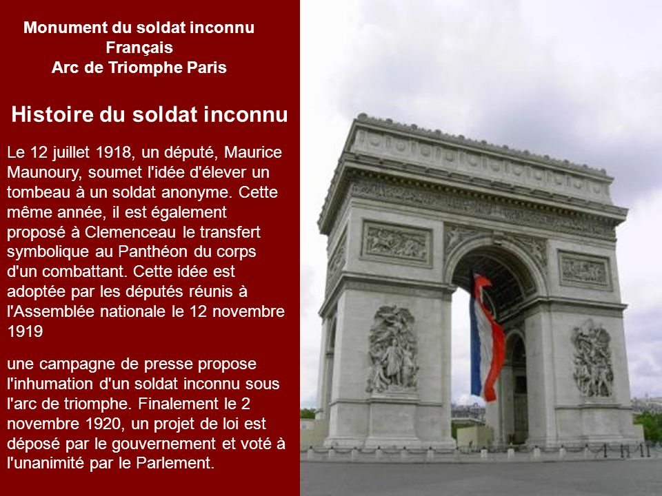 Monument du soldat inconnu Français