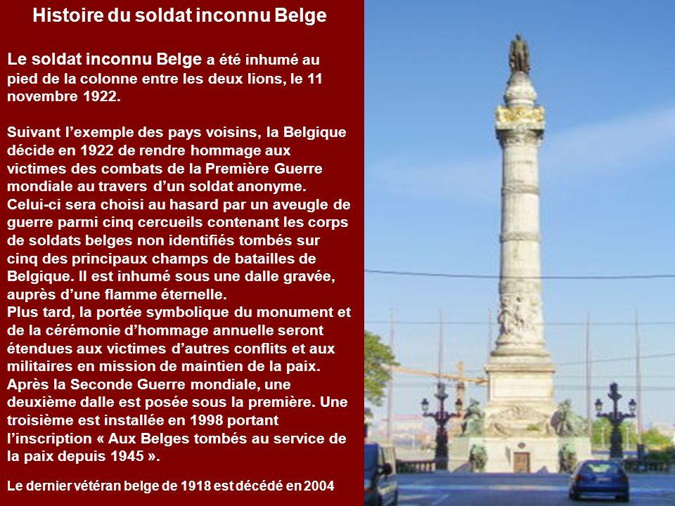 Histoire du soldat inconnu Belge