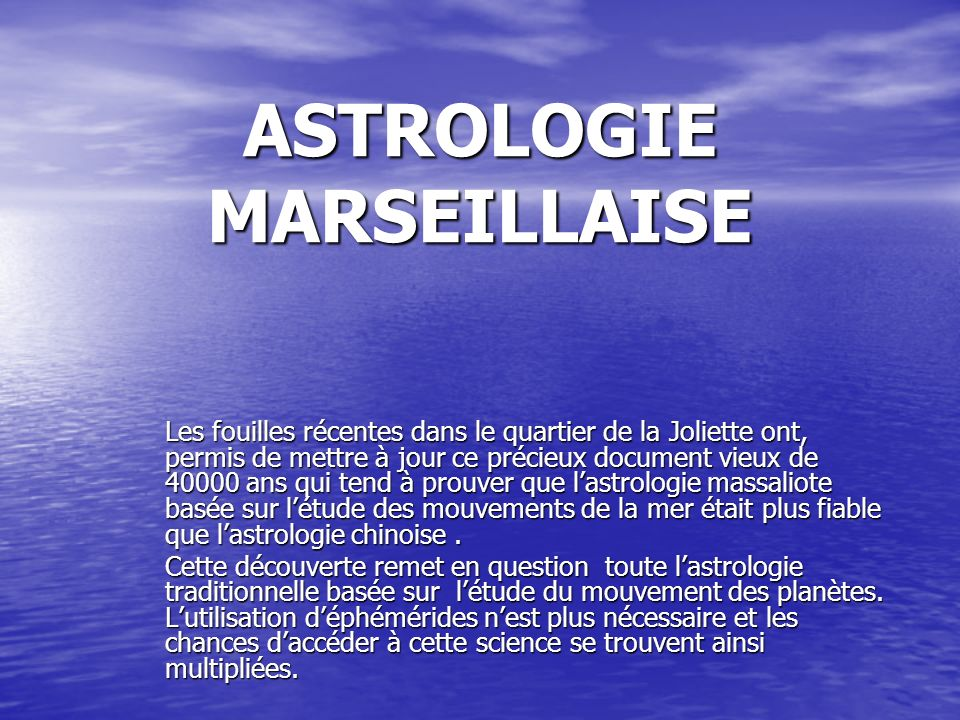 ASTROLOGIE MARSEILLAISE