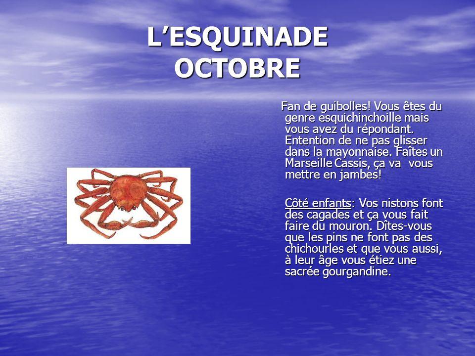 L'ESQUINADE OCTOBRE