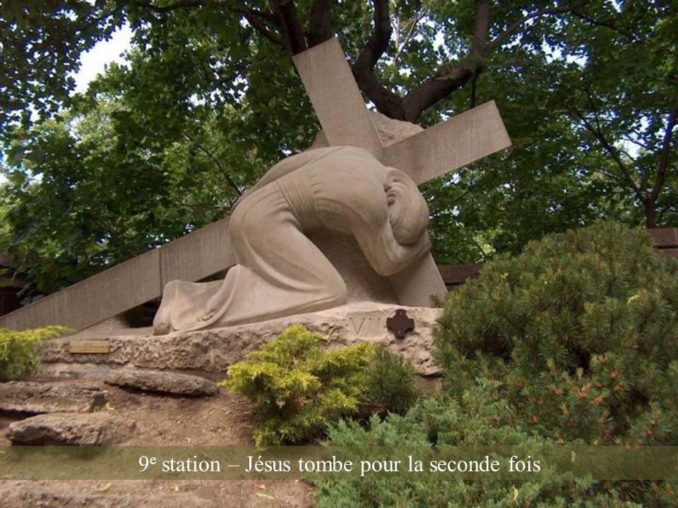 9e station – Jésus tombe pour la seconde fois