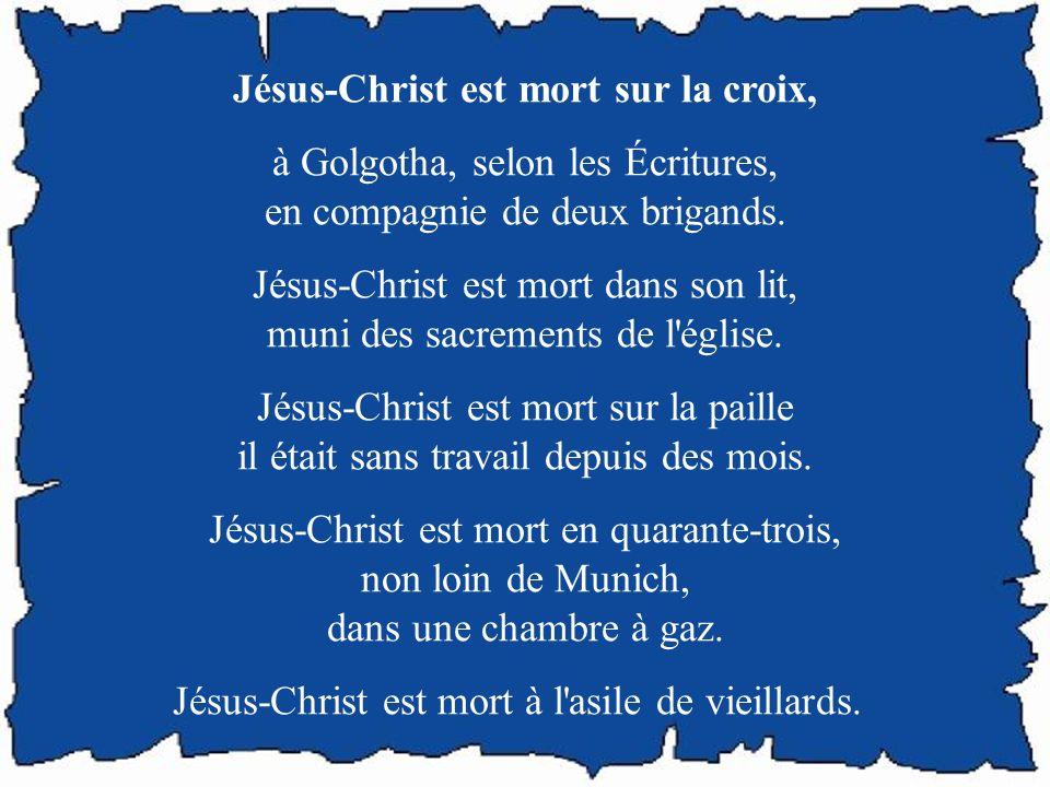 Jésus-Christ est mort sur la croix,
