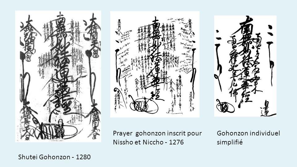Prayer gohonzon inscrit pour Nissho et Niccho - 1276