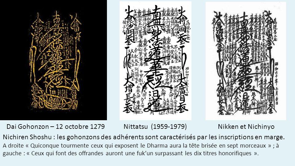 Dai Gohonzon – 12 octobre 1279 Nittatsu (1959-1979) Nikken et Nichinyo