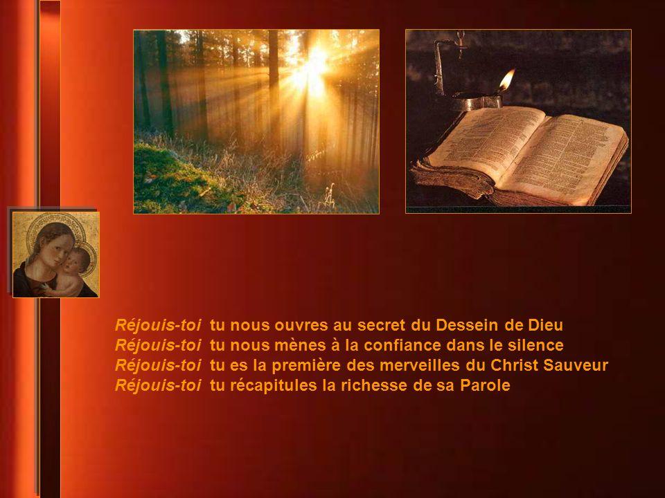 Réjouis-toi tu nous ouvres au secret du Dessein de Dieu