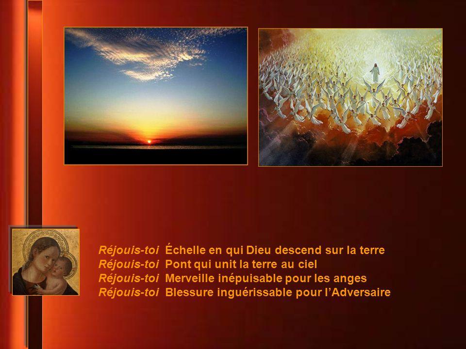 Réjouis-toi Échelle en qui Dieu descend sur la terre